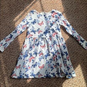 girl's butterfly h&m long sleeve dress